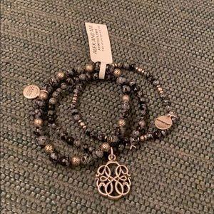 Alex and Ani bracelet trio